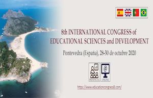 <p><strong>8th International Congress of Educational Sciences and Development (Presencial y Online) </strong>que se celebrará en <strong>Pontevedra (España), </strong>del <strong>28 al 30 de octubre de 2020</strong>.</p>  <p><span style=color:#B22222><strong>La institución a la que pertenece es una de las entidades colaboradoras y por ser miembro puede acogerse a PRECIOS REDUCIDOS</strong></span></p>  <p><strong>MODALIDADESDEPARTICIPACIÓN:</strong>PresencialyOnline</p>  <p><strong>PRESENTACIÓNDETRABAJOS</strong><br /> Se podrán presentar Simposios, Comunicaciones orales y Comunicaciones escritas (Pósteres) que se publicará en el libro de abstracts con ISBN. Además, se podrá enviar un trabajo en formato capítulo para un libro con ISBN</p>  <p><strong>IDIOMASOFICIALES:</strong>Castellano,Gallego,PortuguéseInglés</p>  <p><strong>FECHALÍMITE:</strong>Fecha límite para el envío de abstracts (resúmenes): <strong>4 de septiembre de 2020</strong></p>  <p><strong>CALLFORPAPERSJOURNALS:</strong>Las 31 mejores propuestas de trabajos recibidas hasta el <strong>1 de julio de 2020</strong>, pueden ser publicadas (2020/21) en formato artículo en revistas incluidas en Web Of Science:<a href=https://www.educationcongress8.com/call-for-papers-journals>https://www.educationcongress8.com/call-for-papers-journals</a></p>  <p><strong>ENVÍO DE TRABAJOS:</strong><a href=https://www.educationcongress8.com/presentacion-de-trabajos>https://www.educationcongress8.com/presentacion-de-trabajos</a></p>  <p><strong>PROGRAMA CIENTÍFICO</strong>:<a href=https://www.educationcongress8.com/programa-cientifico>https://www.educationcongress8.com/programa-cientifico</a></p>  <p><strong>PUEDE INSCRIBIRSE AQUÍ:</strong><a href=https://en.educationcongress8.com/inscripcion>https://en.educationcongress8.com/inscripcion</a></p>