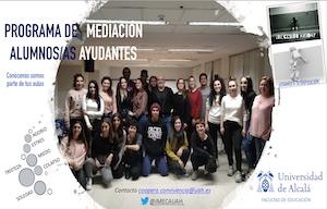 """<p>Ya esta activo el grupo de ayuda entre iguales creado a partir del proyecto de innovación docente realizado por el grupo de innovación e investigación """"Inclusión y Mejora Educativa, Convivencia y Aprendizaje Cooperativo"""" (IMECA), en el cual se apuesta por valores como la solidaridad, la participación y la justicia restaurativa.</p>  <ul> <li>Contacto: coopera.convivencia@uah.es</li> <li>Twitter: @IMECAUAH</li> </ul>"""