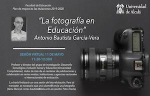 <div style=margin:> <div style=box-sizing:>Antonio Bautista,Profesor y director del grupo de investigación DesarrolloTecnológico, Exclusión Social y Educación (UniversidadComplutense)</div>  <ul> <li><span style=color:rgb(0,>11 de mayo 2021 -11:30 a 12:30</span></li> <li>Emisión en directo en acceso abierto a través de Black Board (incripción)</li> <li>Enmarcado en el<span style=color:rgb(0,>plan de mejoras de las titulaciones del curso 2019-2020, ya que no se pudo realizar el curso pasado por motivo del COVID19</span></li> <li><span style=color:rgb(0,>Organiza: Facultad de Educación Universidad de Alcalá</span></li> </ul> </div>  <div style=margin:> <p><span style=color:rgb(0,>Enlace a Inscripción:</span><a href=https://docs.google.com/forms/d/e/1FAIpQLSfUFvNXyReC65aqNC2fqeAGjyl-ba26ct_a9FE9rlE2fQw12A/viewform?usp=sf_link id=LPlnk rel=noopener style=margin: target=_blank>https://docs.google.com/forms/d/e/1FAIpQLSfUFvNXyReC65aqNC2fqeAGjyl-ba26ct_a9FE9rlE2fQw12A/viewform?usp=sf_link</a></p> </div>